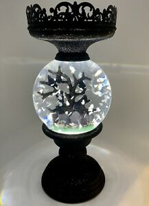 Bath And Body Works 2021 Halloween Water Globe Light Up Candle Holder Pedestal
