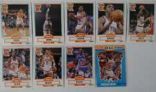 1990-91 Fleer New York Knicks Team Set Of 9 Basketball Cards