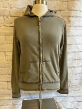 Hard Tail Forever Hoodie-Zip Front Sweatshirt -Women's Size L Faded Green/Gray