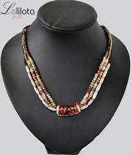 Luxus Statement Kette Halskette Lolilota Paris Facette Perlen Koralle