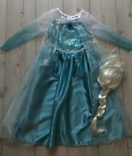 Disney Elsa Singing Let it Go Deluxe costume Age 7/8 Years Complete With Wig