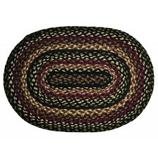 TARTAN OVAL PLACEMAT BRAIDED RUGS 13 x 19 IHF