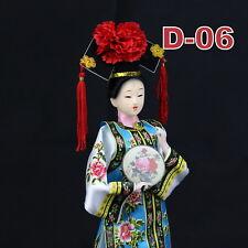 D-06 China Qing-Dynastie Geisha chinesisch Puppe Figur Seide 31cm  groß
