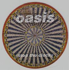 Oasis Stop The Clocks RARE promo sticker '06 (round)