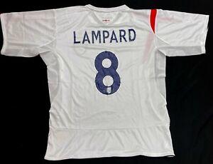 Vintage Frank Lampard England Soccer Football Jersey Shirt Top Men's Large L