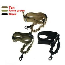 Tactical One Single Point Sling Strap Bungee Quick Release Rifle Gun Sling Strap