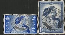 1948 Royal Silver Wedding, SG493-SG494, fine used set.