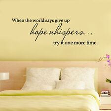 Best Vinyl When the world says give up Quote Decal Wall Sticker Home Arts Decor
