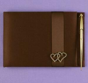 With All My Heart Mocha Guest Book and Pen set