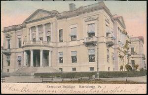 HARRISBURG PA Executive Building Vintage Town View Old Pennsylvania Postcard