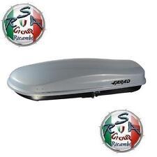 BOX AUTO FARAD ZEUS N16 480LT GRIGIO METALLIZZATO - BAULE PORTABAGAGLI TETTO