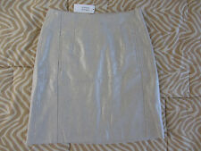 NWT BANANA REPUBLIC Skirt Women Size 0 Metallic Fabric Beige Elegant