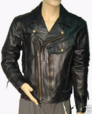 LEATHER PISTOL PETE MOTORCYCLE JACKET/JACKETS  MENS 46