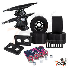 Cal 7 Longboard Flywheel 180mm Truck Bearing 90mm Black Skateboard Wheels