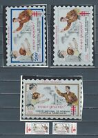 France Anti-TB 1956-1957 never hinged stamps and large labels - Cinderellas
