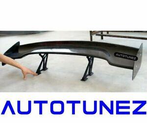 "57"" Carbon Fiber Black 3D GT Wing Spoiler Drift Down Force G Universal AT Type F"