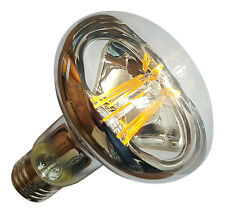 3 x R80 E27 (ES) 240V 8W 800LM WARM WHITE (2700K) LED FILAMENT BULBS ~80W