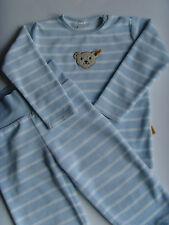 2-tlg.Set - Schlafanzug weiss/hellblau - Nicki Velour - Marke STEIFF - Gr.86