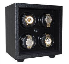 Orbita In-Safe 4 Rotorwind Automatic Watch Winder- Open Front Black/Black W21500