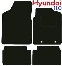 noir bordure Hyundai I10 I-10 2009-2013 sur mesure voiture tapis de sol moquette noir mat
