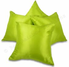 Set of 4 Plain Taffeta 18 inch / 45 cm Cushion Covers - Many Colour Options