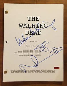 GFA The Walking Dead X4 Reparto Firmado Completo 49 Page TV Texto AD3 Prueba COA