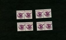 Four Scott #1904 Plate Number Coil Pairs: Two#1s & Two-#2s - Mnh - FreeUsship