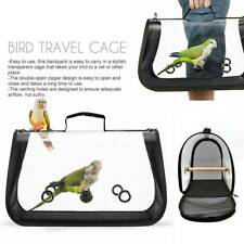 """Bird Carrier Cage Mesh Bag Pet Parrot Travel Breathable Clear Backpack 16x11""""x9"""""""