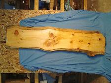 """#3921 knotty Austrian pine live edge slab lumber wood 71""""L 19 1/2""""W1 7/8""""T"""