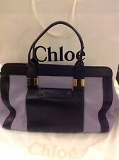 100% Genuine Chloe Alice Large Tote Bag Black/Wisteria Bnwt Rrp £1100