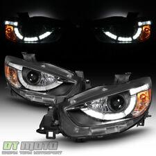 2013-2016 Mazda CX-5 Halogen LED DRL Light Tube Projector Headlights Headlamps