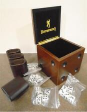 Browning DICE in DICE GAME w/ WOODEN BOX BUCKMARK Shakers Die GIFT SET *New