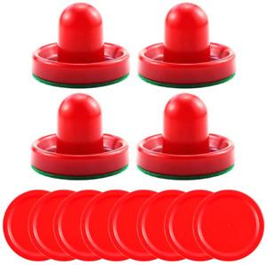 Bignc Light Weight Air Hockey Pushers Red Replacement Pucks (4 Striker, 8 Puck )