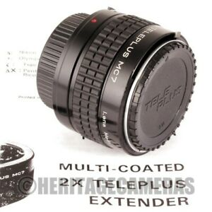 Teleplus 2X MC7 Seven Element Auto Meter Coupled Tele Converter for Nikon AI SLR