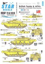 Star Decals 1/72 DESERT STORM BRITISH TANKS & AFVs