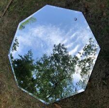 "Vintage Octagon Beveled Wall Mirror Framless 26"" x 26"""