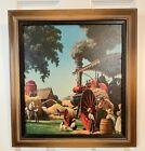"Vintage Paul Detlefsen Art Print ""Harvest Time"" Turner Wall Accessory Farming"