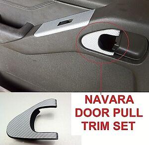 NISSAN NAVARA D40 / R51 (2004-2014) 4 DOOR HANDLE REFURB SET -CARBON FIBRE STYLE
