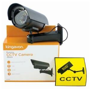 Dummy CCTV Camera & CCTV Sticker Sign – Outdoor Fake Security Camera – LED IP44