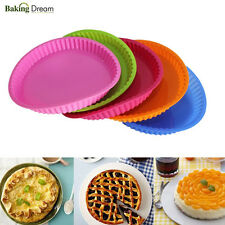 """9.7"""" Round Silicone Cake Mold Pan Muffin Pizza Pastry Baking Tray Mould Bakeware"""