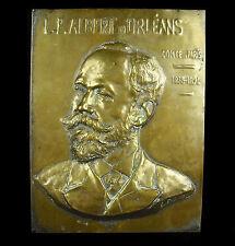 Louis Philippe Albert d'Orléans Comte de Paris portrait en bas relief sur bronze