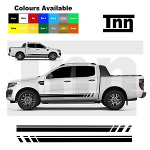 Side Stripe Stickers For Ford Ranger x2 Graphics Decals Vinyl Offroad Racing