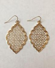 Gold Filigree Earrings Kendra + Chloe Dangle Earrings by Isabel J. Scott