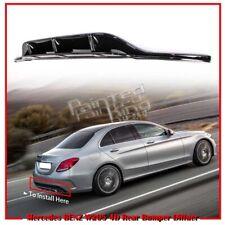For Mercedes BENZ C W205 C300 4D 5D Rear Sport Bumper Diffuer Spoiler 15 Black