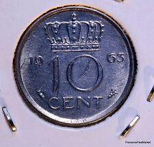 Pays-Bas, Juliana, 10 Cents, 1963, SUP, Nickel, KM:182 AC842