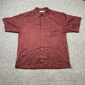 Tommy Bahama Button Up Shirt Mens Size Large Silk Cotton Blend