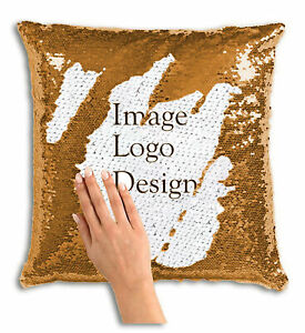 Personalize Your Own Sequin Pillow   Upload a Photo or Inquire for Custom Design