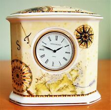 "WEDGWOOD ATLAS  Small Desk Clock  Height: 3 1/2"" Width: 3 5/8"""