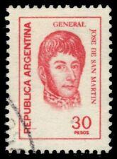 "ARGENTINA 1098  (Mi1282) - Jose de San Martin ""1977 Rose Red"" (pf22091)"