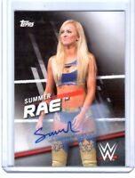 WWE Summer Rae 2016 Topps Divas Revolution Authentic Autograph Card SN 71 of 99